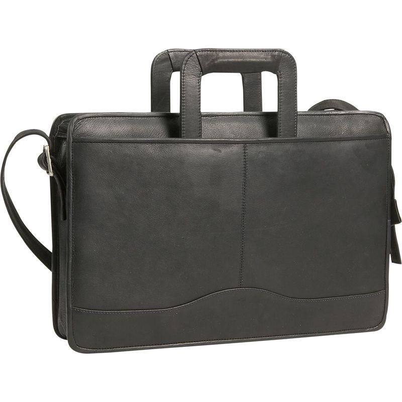 デビッドキング メンズ スーツケース バッグ Drop Handle Briefcase Black
