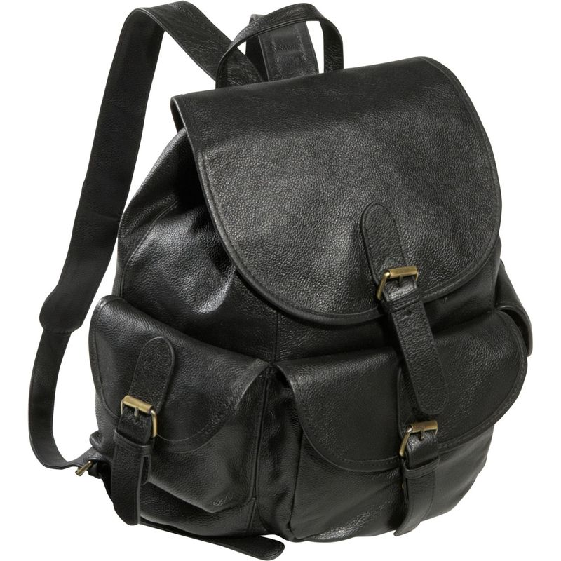 アメリ メンズ バックパック・リュックサック バッグ Urban Buckle-Flap Backpack Black