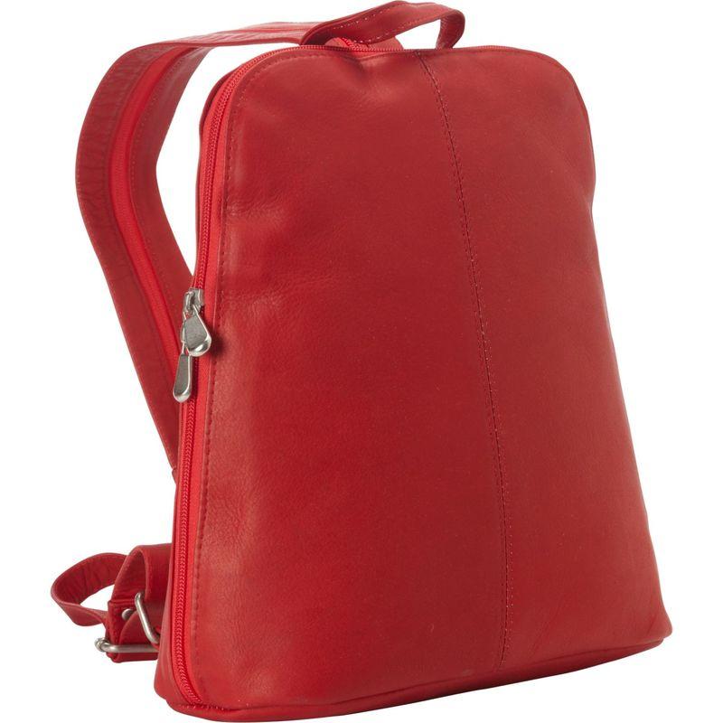 ルドネレザー レディース バックパック・リュックサック バッグ Womens iPad/eReader Backpack Sling Red