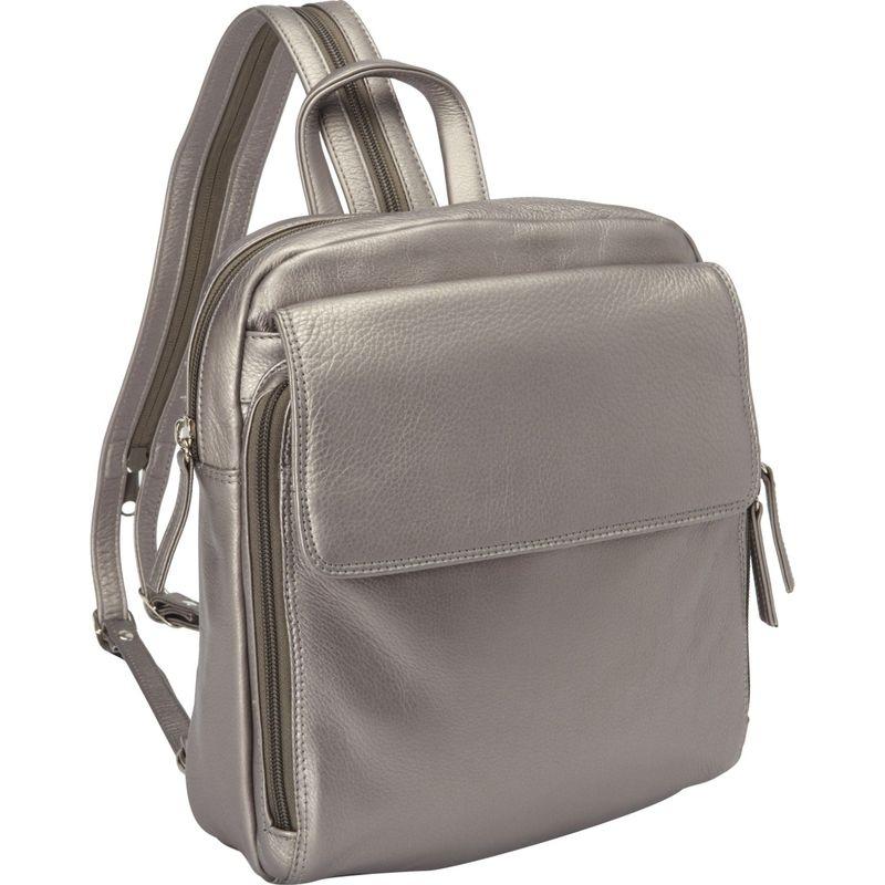 デレクアレクサンダー メンズ バックパック・リュックサック バッグ Top Zip Sling Backpack Silver
