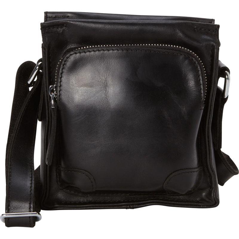 ヴァガボンドトラベラー メンズ ショルダーバッグ バッグ 7 Cowhide Leather Satchel Bag Black