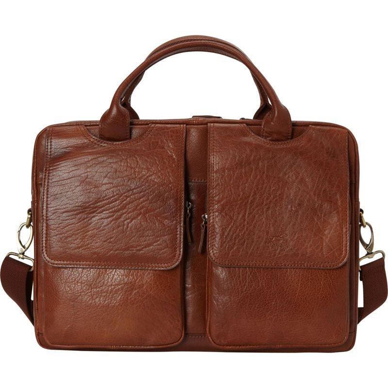 マンシニレザーグッズ メンズ スーツケース バッグ Double Compartment Briefcase for 15.6 Laptop and Tablet Brown