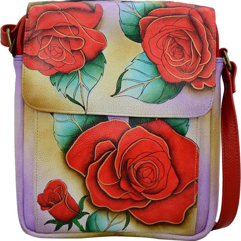 アンナバイアナシュカ メンズ ボディバッグ・ウエストポーチ バッグ Hand Painted Leather Crossbody Messenger Romantic Rose