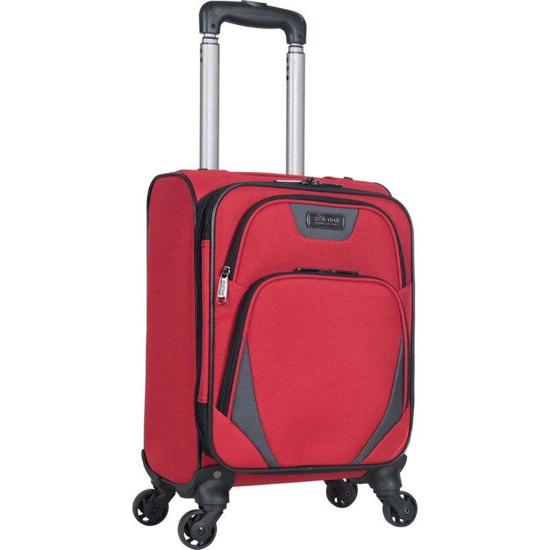 ケネスコール メンズ スーツケース バッグ Going Places 16 Lightweight Expandable Spinner Underseater Carry-On Barn Red