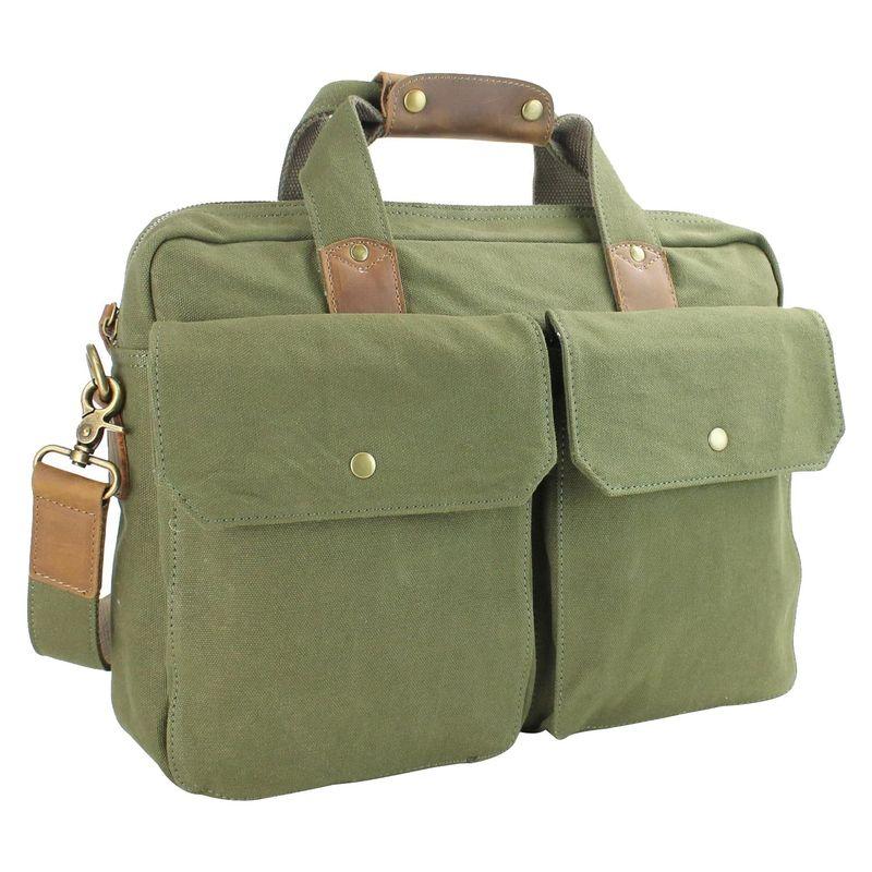 ヴァガボンドトラベラー メンズ スーツケース バッグ 15 Casual Laptop Messenger Bag Green