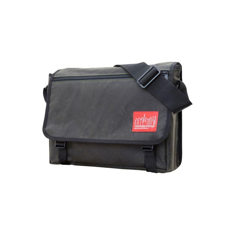 マンハッタンポーテージ メンズ ショルダーバッグ バッグ Waxed Canvas Europa Messenger Bag Olive