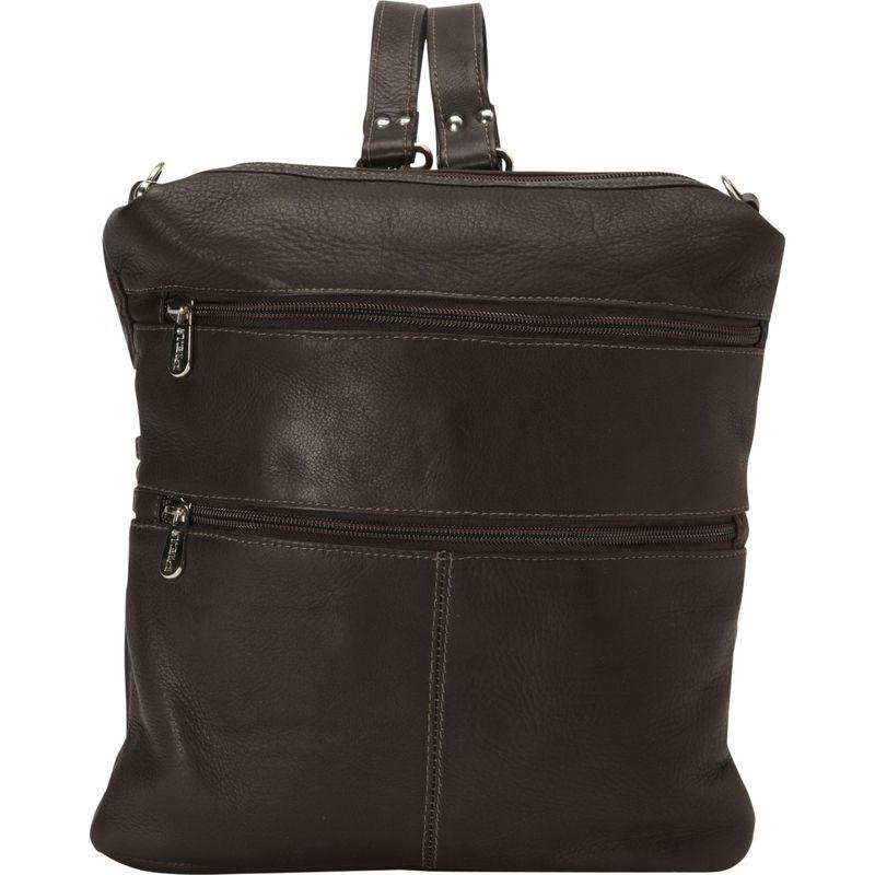 ピエール メンズ バックパック・リュックサック バッグ Convertible Multi-Pocket Shoulder Backpack Handbag Chocolate