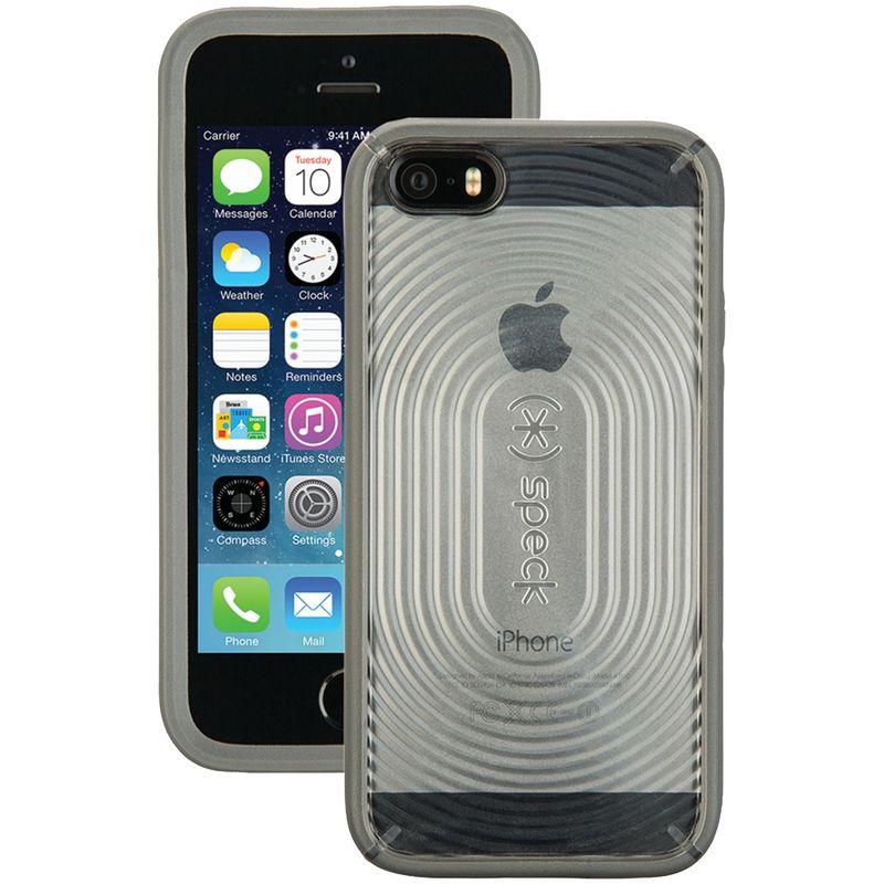 スペック メンズ PC・モバイルギア アクセサリー IPhone 5/5s Mightyshell Case Clear / Slate Gray