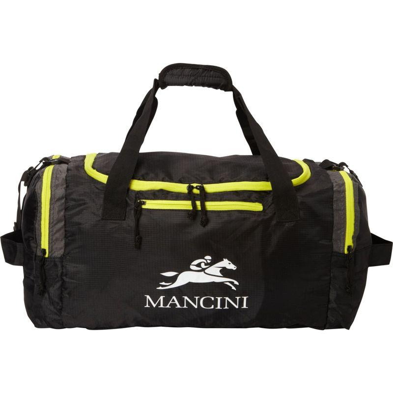 マンシニレザーグッズ メンズ ボストンバッグ バッグ Travel Packable Duffle Bag Black