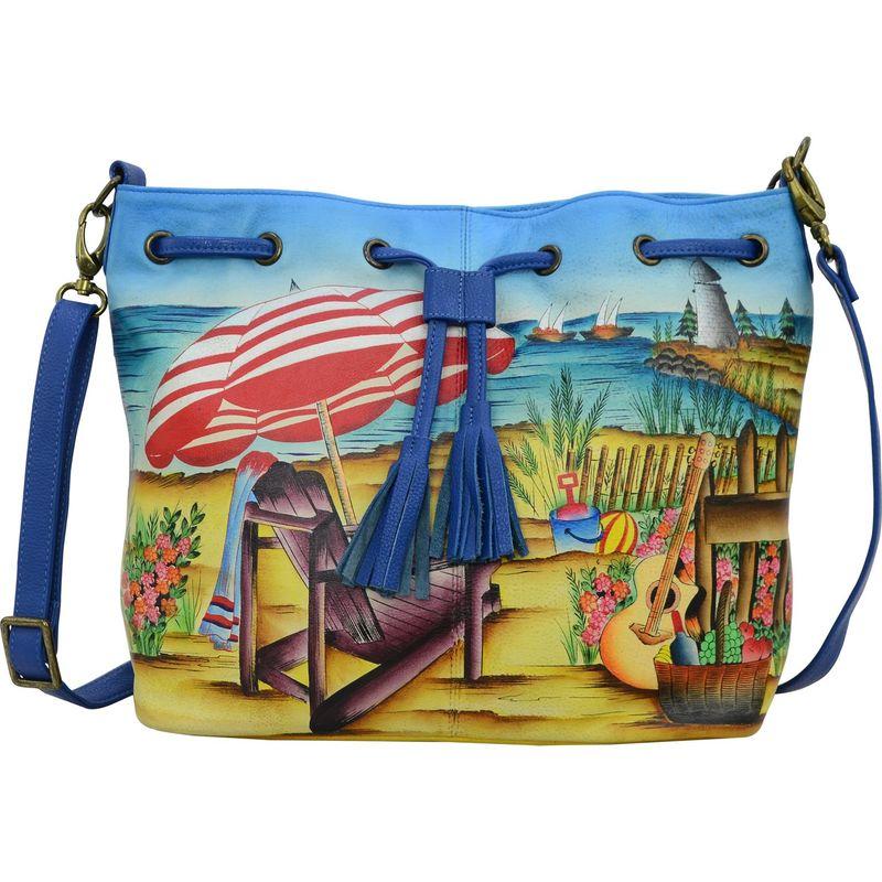 アンナバイアナシュカ メンズ ハンドバッグ バッグ Hand Painted Drawstring Satchel Life is a Beach