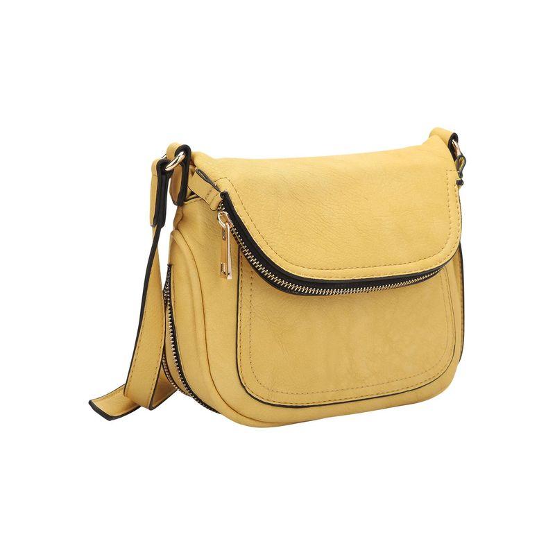 ダセイン メンズ ボディバッグ・ウエストポーチ バッグ Front Flap Crossbody Bag Yellow