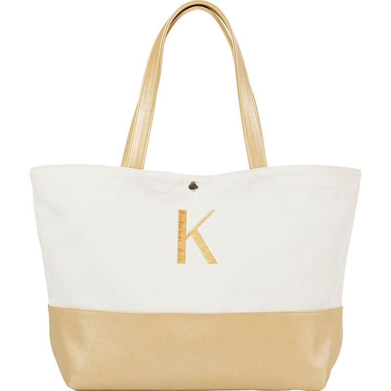 キャシーズ コンセプツ メンズ トートバッグ バッグ Monogram Gold Metallic Color Dipped Tote Gold - K