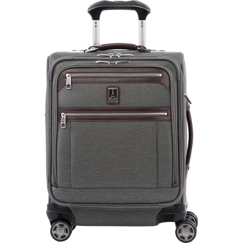 トラベルプロ メンズ スーツケース バッグ Platinum Elite International Expandable Carry-On Spinner with USB Port Vintage Grey