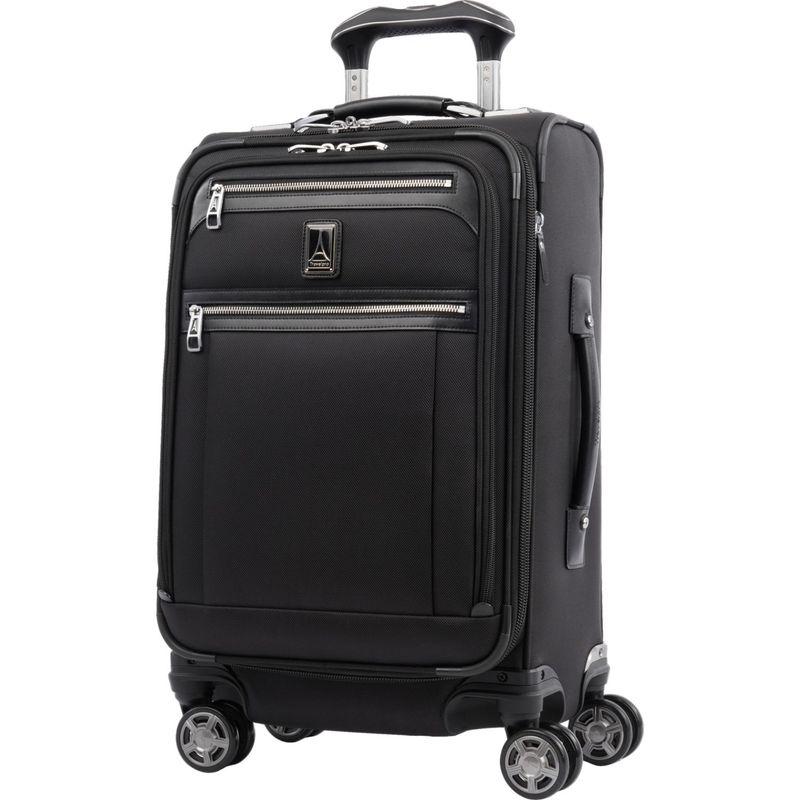 トラベルプロ メンズ スーツケース バッグ Platinum Elite 21 Expandable Carry-On Spinner Shadow Black