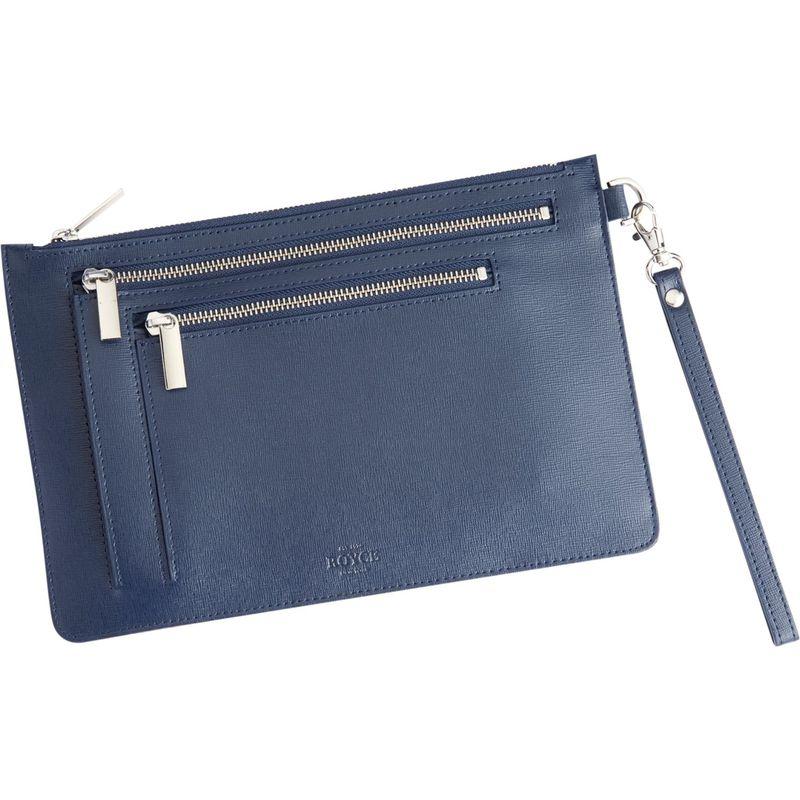 ロイスレザー メンズ ボディバッグ・ウエストポーチ バッグ RFID Blocking Cross Body Bag Blue