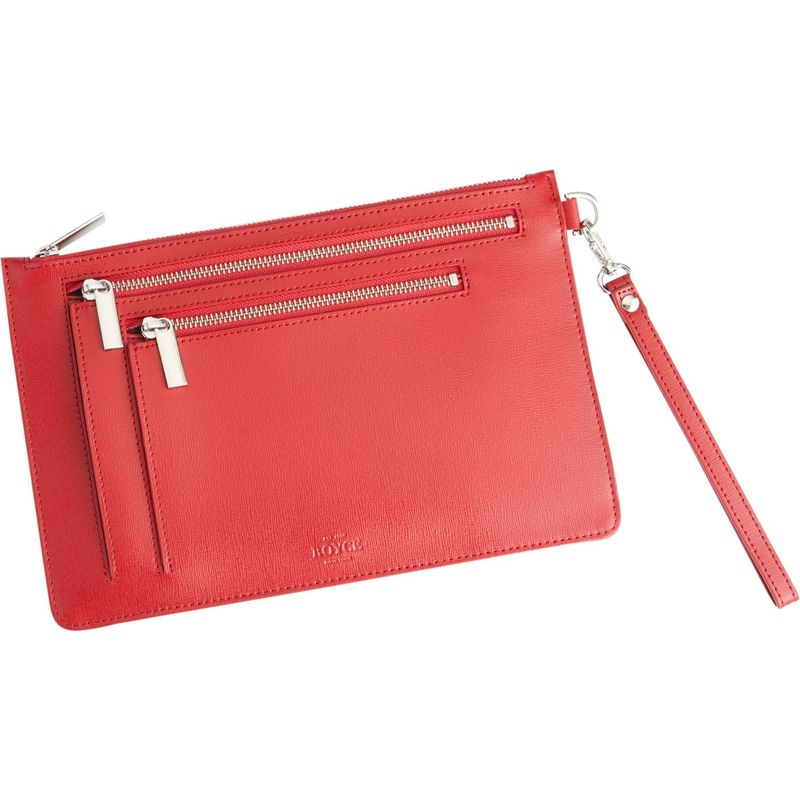 ロイスレザー メンズ ボディバッグ・ウエストポーチ バッグ RFID Blocking Cross Body Bag Red