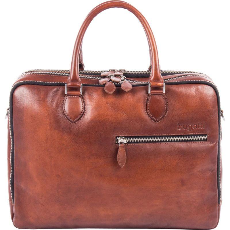 ブガッティ メンズ スーツケース バッグ Domus Genuine Leather Business Briefcase Brown