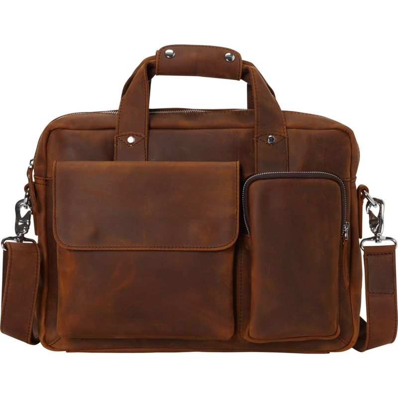 ヴァガボンドトラベラー メンズ スーツケース バッグ Leather Casual Style B'Room Laptop Bag Vintage Brown