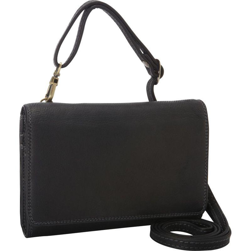 デレクアレクサンダー メンズ セカンドバッグ・クラッチバッグ バッグ Small Convertible Multi Organizer Clutch/Bag  Black