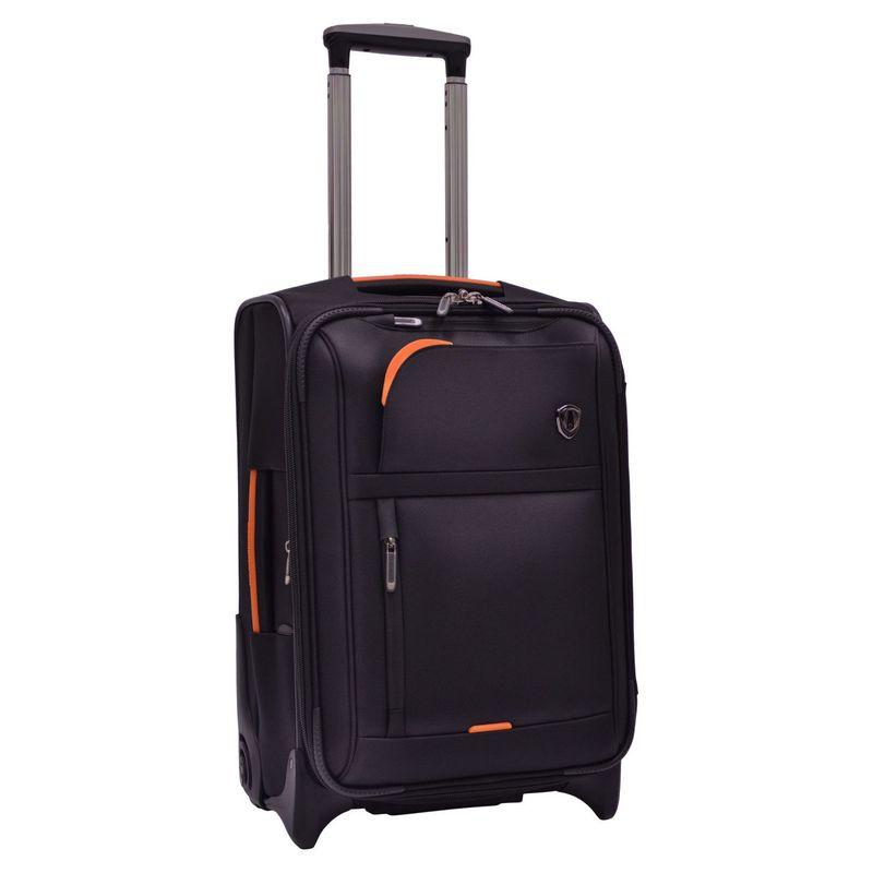 トラベラーズチョイス メンズ スーツケース バッグ Birmingham 21 Expandable Rollaboard Black