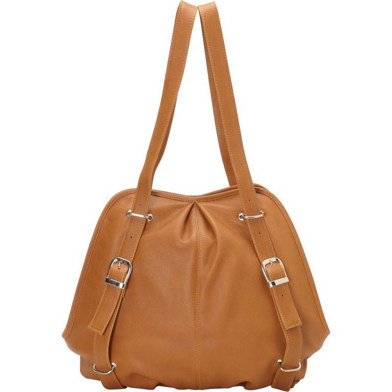 ピエール メンズ バックパック・リュックサック バッグ Convertible Buckle Backpack Shoulder Bag Honey