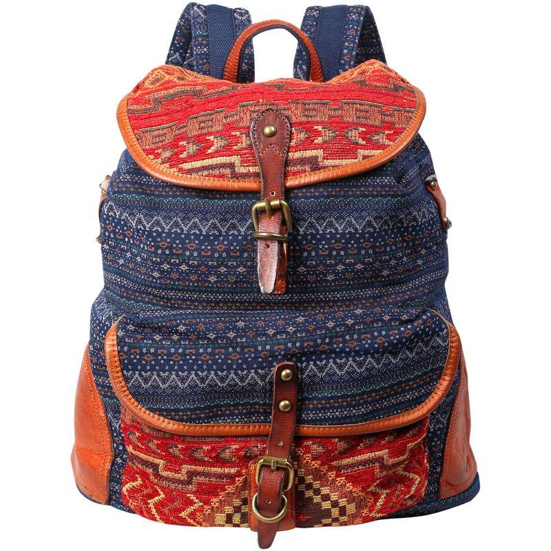 ティエスディー メンズ バックパック・リュックサック バッグ Tribal Secret Backpack Orange/Navy