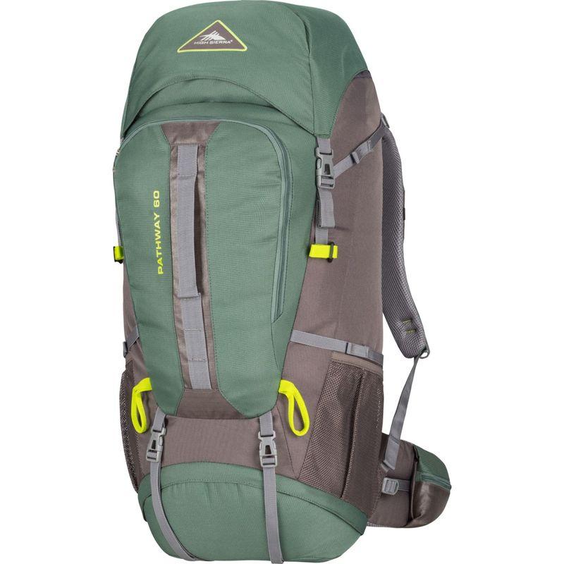 ハイシエラ メンズ バックパック・リュックサック バッグ Pathway 60L Hiking Pack Pine/Slate/Chartreuse