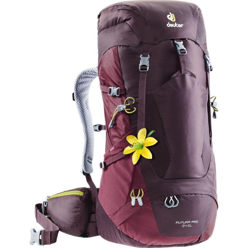 ドイター レディース バックパック・リュックサック バッグ Womens Futura PRO 34 SL Hiking Pack Aubergine/Maroon