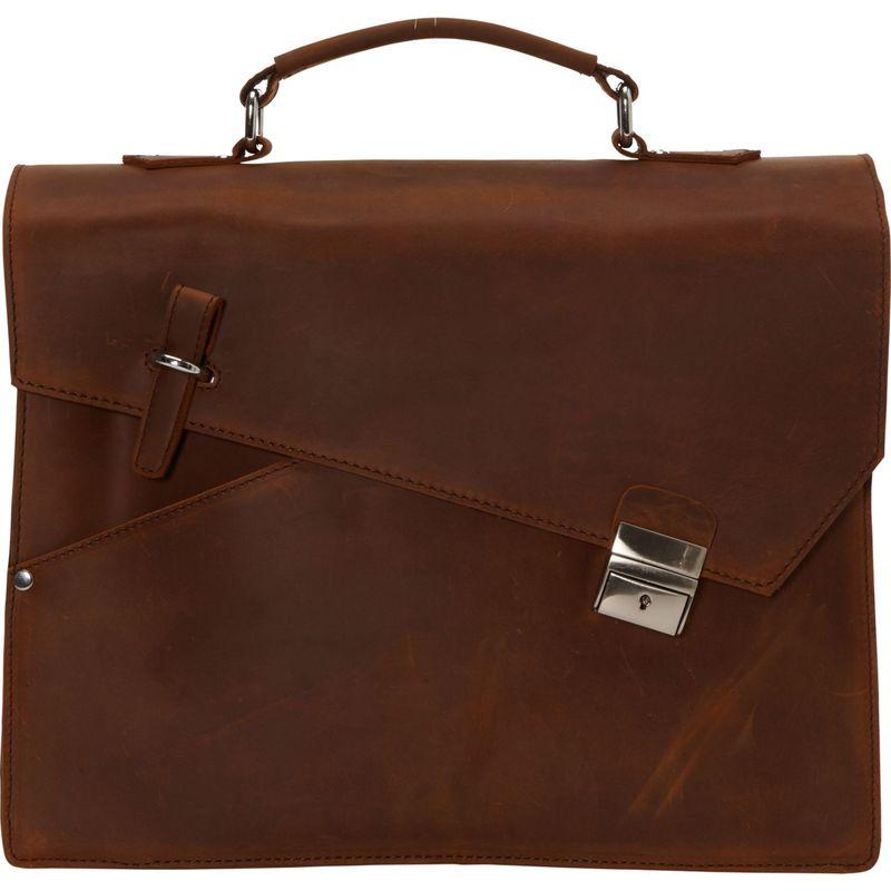 ヴァガボンドトラベラー メンズ スーツケース バッグ Shrek Style Cowhide Leather Portfolio Briefcase Vintage Brown
