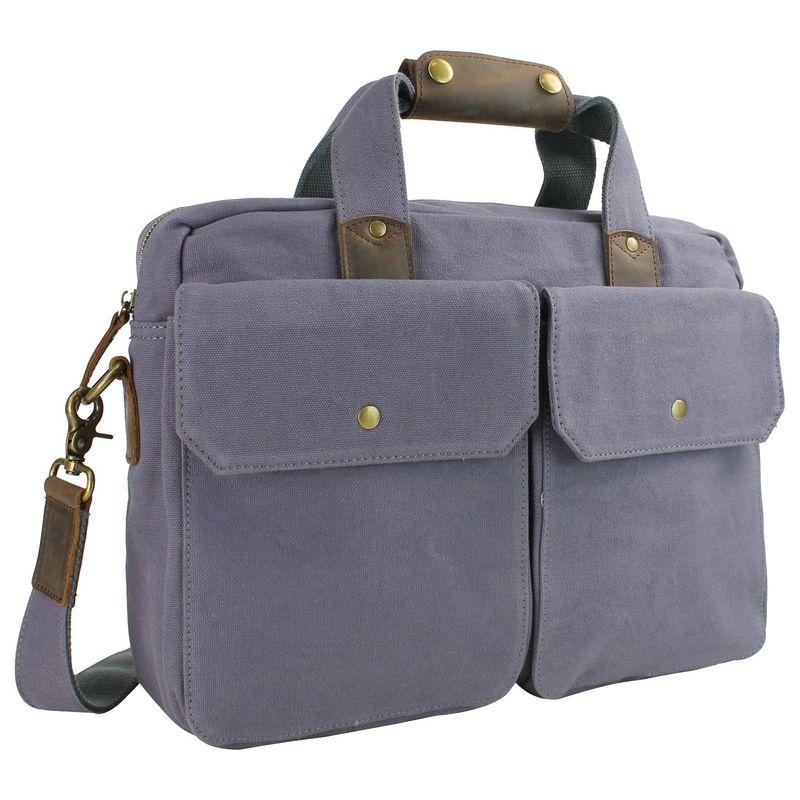 ヴァガボンドトラベラー メンズ スーツケース バッグ 15 Casual Laptop Messenger Bag Blue Grey