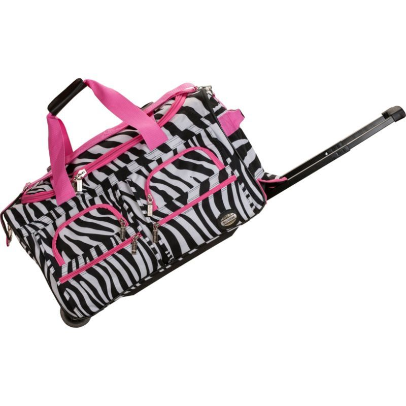 ロックランド メンズ スーツケース バッグ 22 Rolling Duffle Bag PINKZEBRA