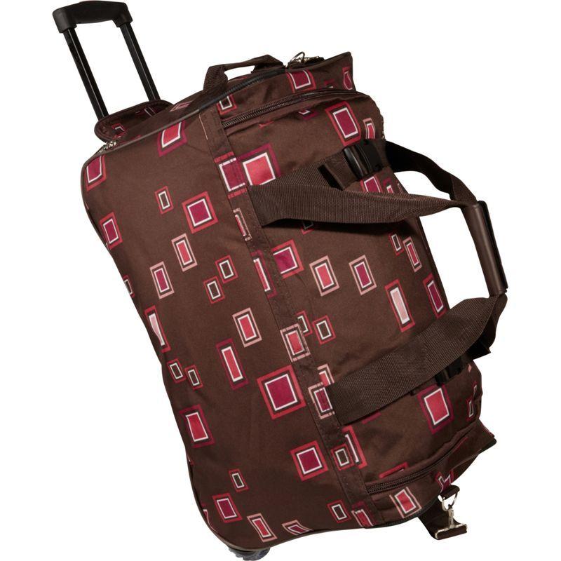 ロックランド メンズ スーツケース バッグ 22 Rolling Duffle Bag Chocolate