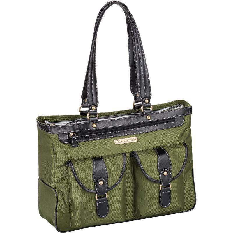 クラークアンドメイフィールド メンズ スーツケース バッグ Marquam Laptop Handbag 18.4 Pesto Green