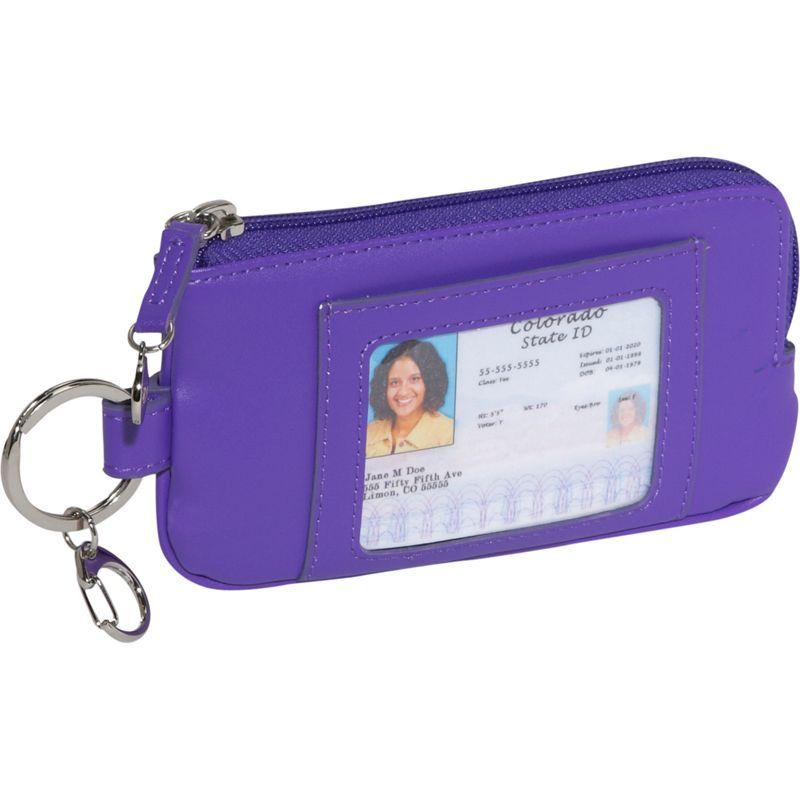 ロイスレザー メンズ PC・モバイルギア アクセサリー Phone ID Credit Card Wallet Purple