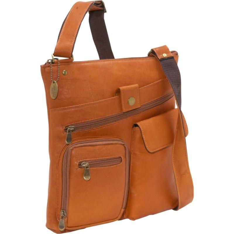 デビッドキング メンズ ショルダーバッグ バッグ Multi Pocket Cross Bag Tan