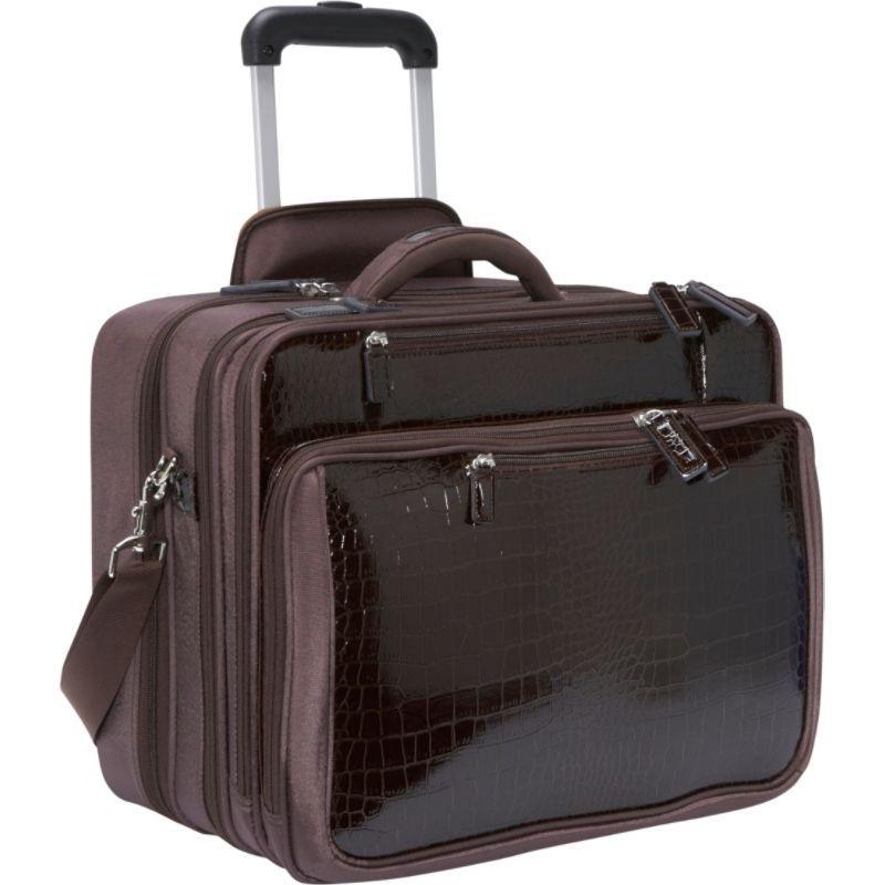 ウーメンインビジネス レディース スーツケース バッグ Francine Collection - Croco 17.3 Laptop Roller Case Brown