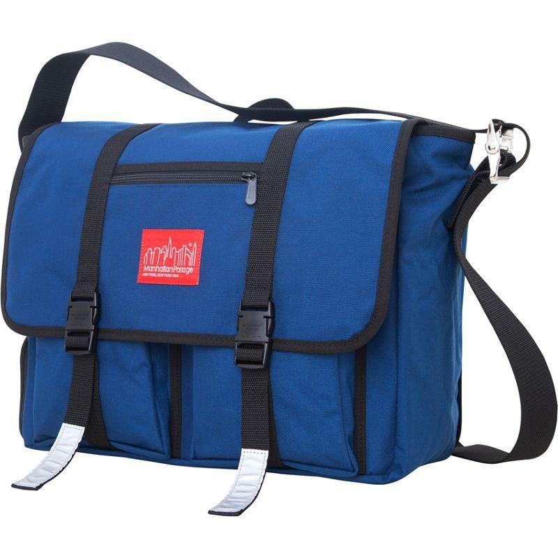 マンハッタンポーテージ メンズ スーツケース バッグ Trotter 15 Laptop Messenger Bag Navy