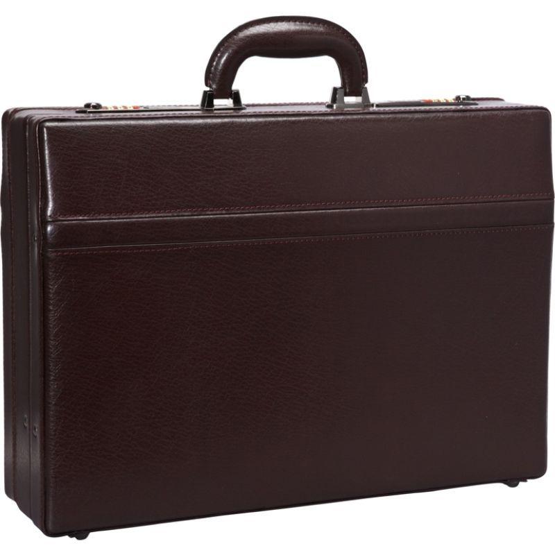 マンシニレザーグッズ メンズ スーツケース バッグ 1 Expandable Attach Case Burgundy