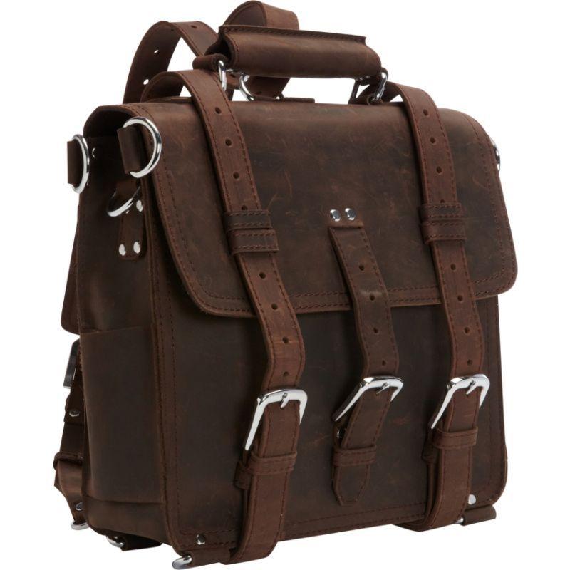 ヴァガボンドトラベラー メンズ スーツケース バッグ 13 Tall Leather Laptop Backpack Brief Dark Brown