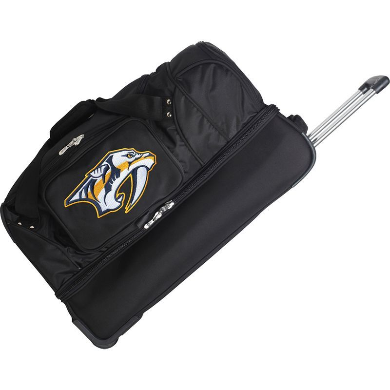 デンコスポーツ メンズ スーツケース バッグ NHL 27 Drop Bottom Wheeled Duffel Bag Nashville Predators