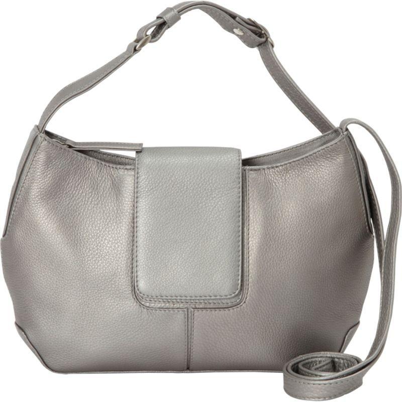 デレクアレクサンダー メンズ ボディバッグ・ウエストポーチ バッグ Top Zip Half Moon Shape bag Silver