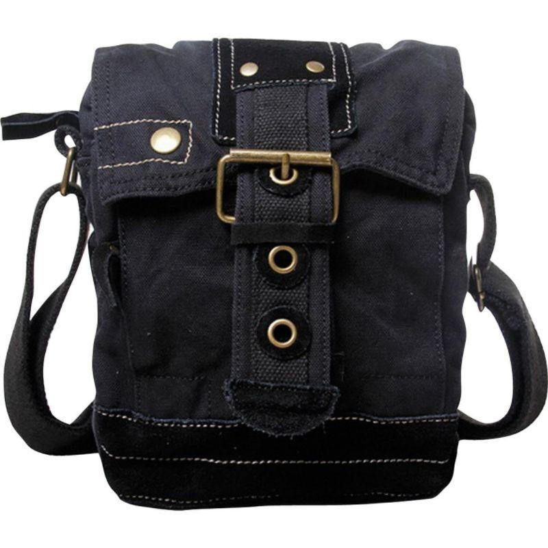 ヴァガボンドトラベラー メンズ ショルダーバッグ バッグ Tall 9 Small Satchel Shoulder Bag Black