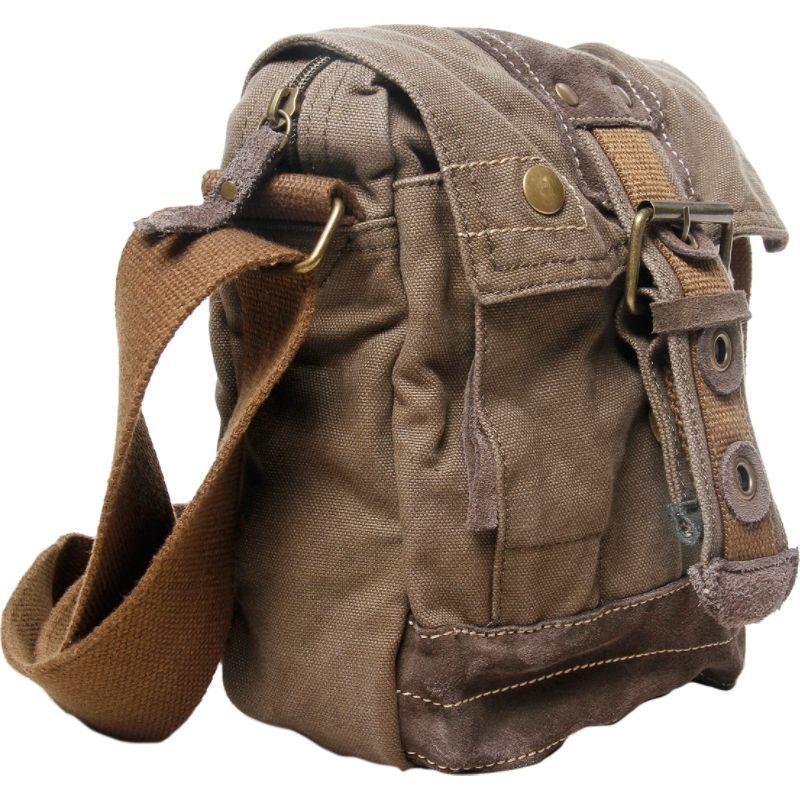ヴァガボンドトラベラー メンズ ショルダーバッグ バッグ Tall 9 Small Satchel Shoulder Bag Military Green