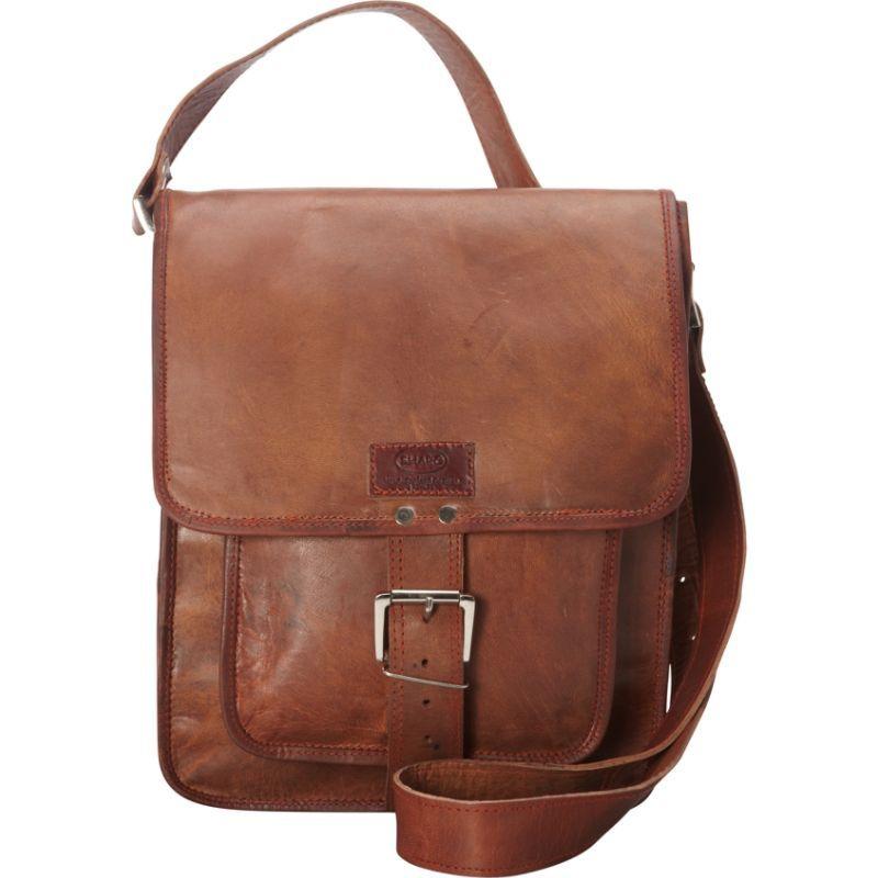 シャロレザーバッグス メンズ ボディバッグ・ウエストポーチ バッグ Retro One Strap Close Messenger Bag Brown