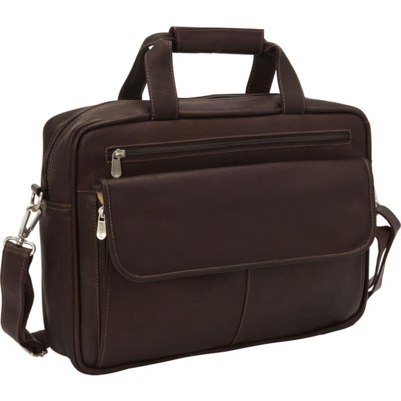 ピエール メンズ スーツケース バッグ Slim Top-Zip Briefcase Chocolate