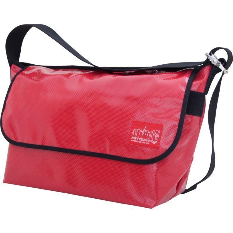 マンハッタンポーテージ メンズ ショルダーバッグ バッグ Vinyl Vintage Messenger Bag (LG) VER2 Red