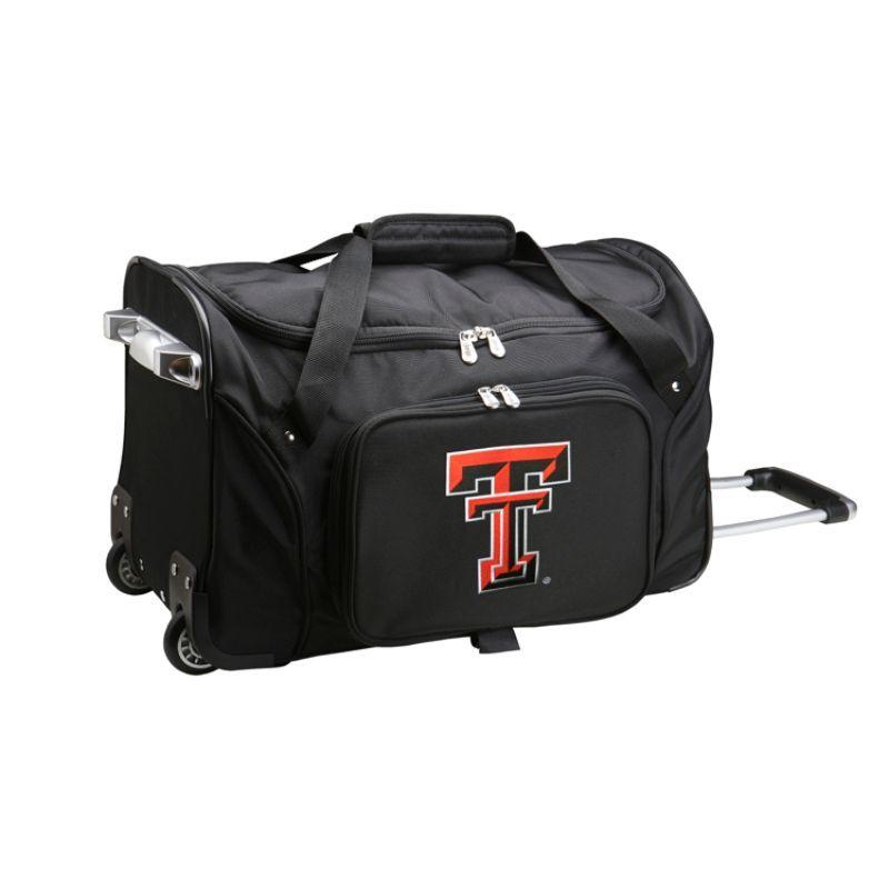 デンコスポーツ メンズ スーツケース バッグ NCAA 22 Rolling Duffel Texas Tech University Red Raiders