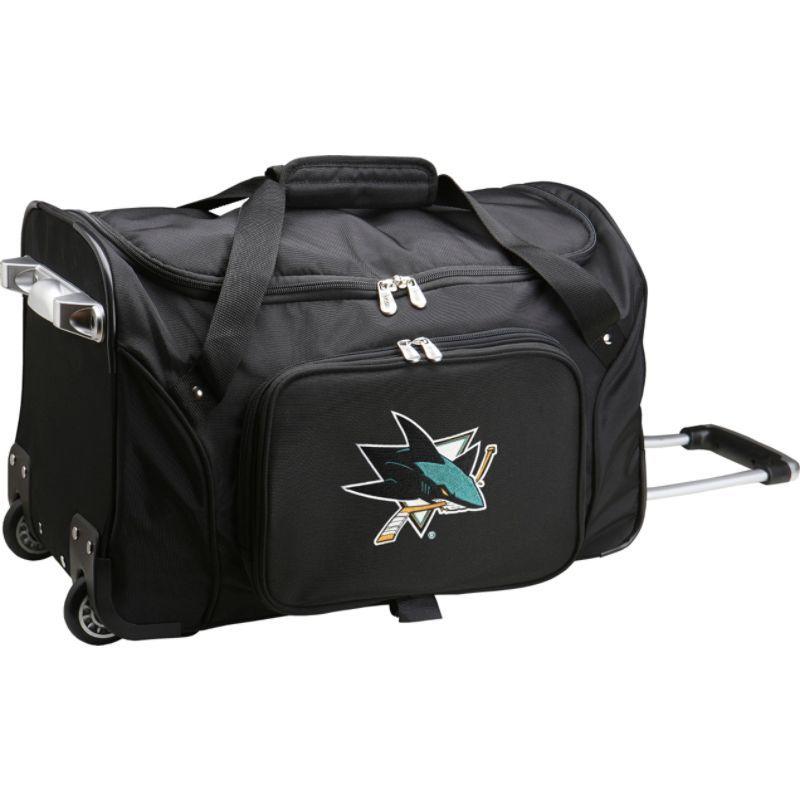 デンコスポーツ メンズ スーツケース バッグ NHL 22 Rolling Duffel San Jose Sharks