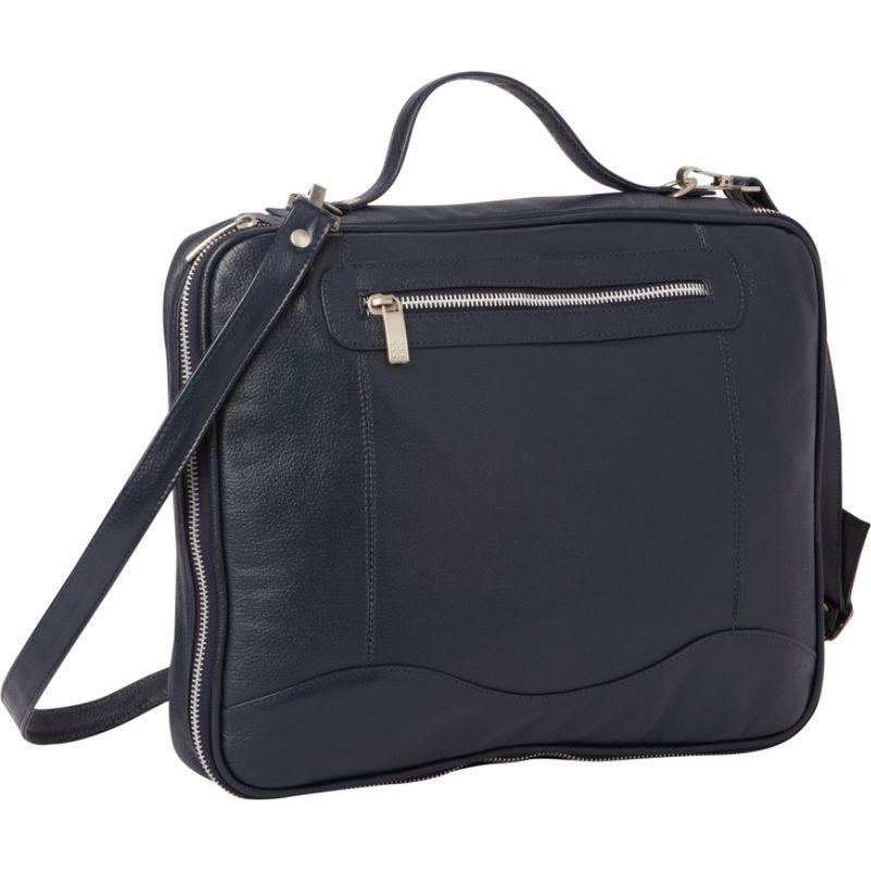 ピエール メンズ スーツケース バッグ Leather Laptop/Tablet Case Navy