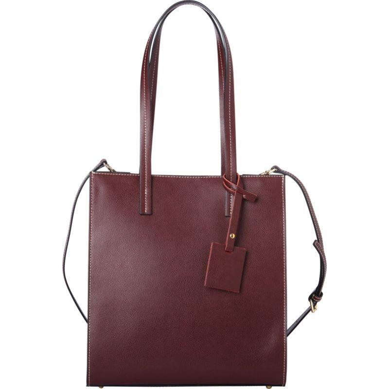 シャロレザーバッグス メンズ トートバッグ バッグ Classic Burgundy Italian Leather Tote Burgundy Red